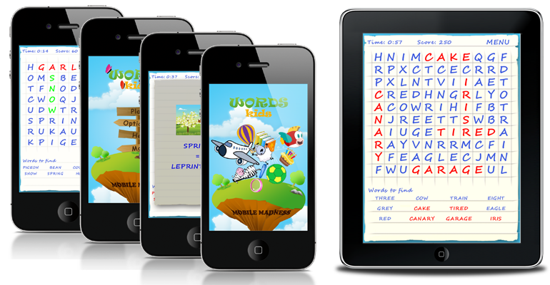 Words Kids available on AppStore